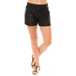 Clothing Women Shorts / Bermudas Vero Moda Grooved NW Shorts Blue 10113956 Noir Black