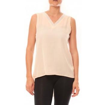 Clothing Women Tops / Sleeveless T-shirts De Fil En Aiguille Débardeur Voyelle L147 Rose Pink