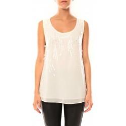 Clothing Women Tops / Sleeveless T-shirts De Fil En Aiguille Débardeur Victoria & Karl MX0660 Beige Beige
