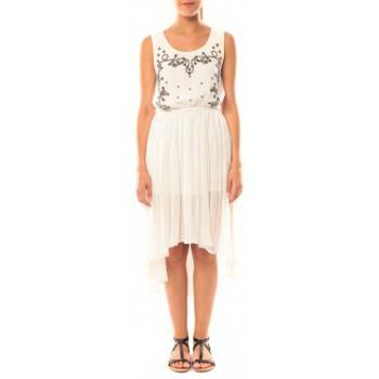 Clothing Women Dresses De Fil En Aiguille Robe Victoria & Karl GH0012 Blanc White