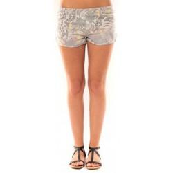 Clothing Women Shorts / Bermudas De Fil En Aiguille Short Victoria & Karl Gris Grey
