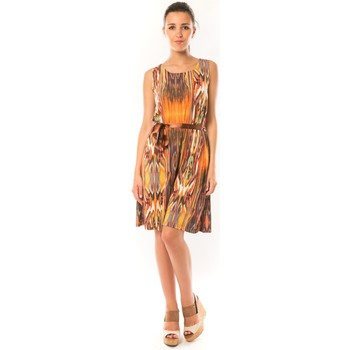 Clothing Women Short Dresses Dress Code Robe Elissa B369 Orange Orange