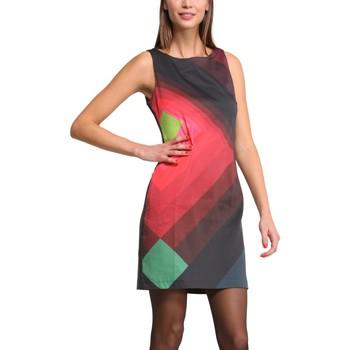 Clothing Women Short Dresses Desigual Robe Ada 47V2836 Noir Black