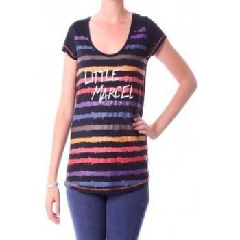 Clothing Women Long sleeved tee-shirts Little Marcel T-shirt Tasoli H14IBF033 Noir Black