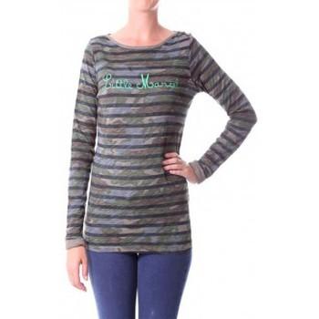 Clothing Women Long sleeved tee-shirts Little Marcel T-shirt Tamanite H14IBF026 Kaki Green