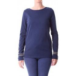 Clothing Women Long sleeved tee-shirts Little Marcel T-shirt Tigalon H14IBF240 Bleu Blue