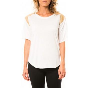 Clothing Women short-sleeved t-shirts Coquelicot T-shirt CQTW14410 Blanc White