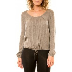 Clothing Women jumpers Vision De Reve Vision de Rêve Pull 12033 Taupe Brown