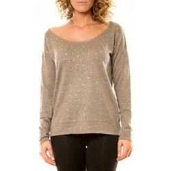 Clothing Women jumpers Vision De Reve Vision de Rêve Pull 12030 Taupe Brown