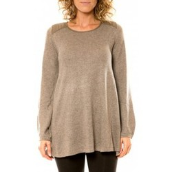 Clothing Women jumpers Vision De Reve Vision de Rêve Pull 12007 Taupe Brown