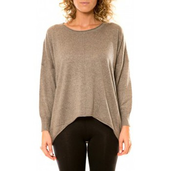Clothing Women jumpers Vision De Reve Vision de Rêve Pull 12021 Taupe Brown