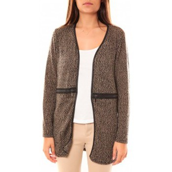 Clothing Women Jackets / Cardigans Nina Rocca Gilet L'Oasi Taupe Beige