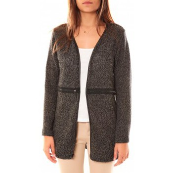 Clothing Women Jackets / Cardigans Nina Rocca Gilet L'Oasi Gris Anthracite Grey