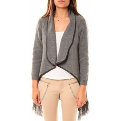 Clothing Women Jackets / Cardigans Tcqb Gilet Andy Gris Grey