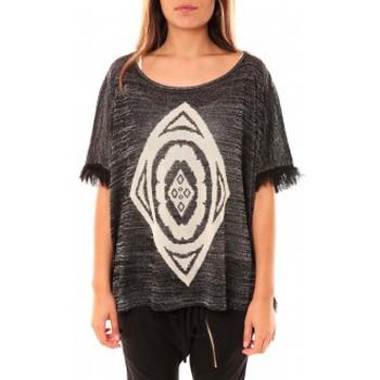 Clothing Women jumpers Tcqb Poncho Di&A 0196 Noir Black