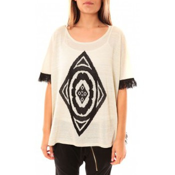 Clothing Women jumpers Tcqb Poncho Di&A 0196 Blanc White