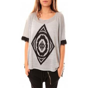 Clothing Women jumpers Tcqb Poncho Di&A 0196 Gris Grey