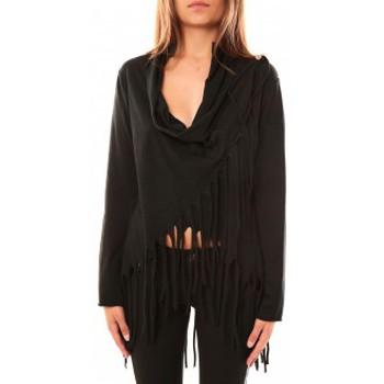 Clothing Women Jumpers De Fil En Aiguille Pull Viki Noir Black