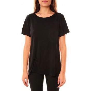 Clothing Women short-sleeved t-shirts Coquelicot T-shirt CQTW14311 Noir Black
