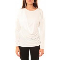 Clothing Women Long sleeved tee-shirts Coquelicot T-shirt CQTW14303 Blanc White