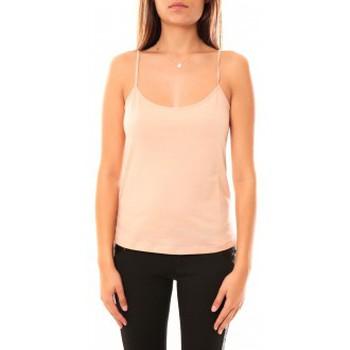 Clothing Women Tops / Sleeveless T-shirts Coquelicot Débardeur CQTW14323 Beige Beige