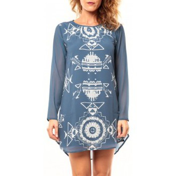 Clothing Women Tunics Coquelicot Tunique CQTW14206 Bleu Blue