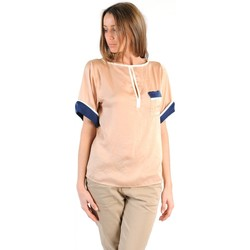 Clothing Women short-sleeved t-shirts Tcqb TOP MIMOSA BEIGE Beige