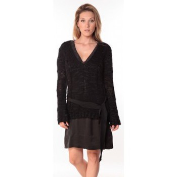 Clothing Women jumpers Sack's Pull Military Noir 21190559 Black