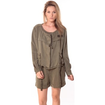 Clothing Women Tops / Blouses Sack's Veste Woman Kaki 21150088 Green