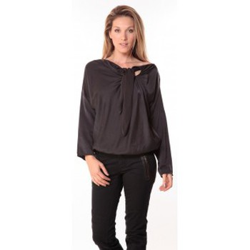 Clothing Women Tops / Blouses Sack's Blouse Bow Noire Black