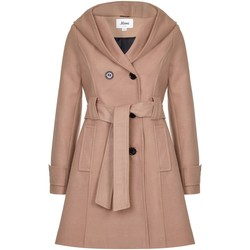 Clothing Women Trench coats De La Creme - Womens Hooded Winter Belted Coat Beige