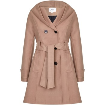 Clothing Women Trench coats De La Creme Winter Hooded Coat Beige