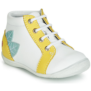 Shoes Girl Hi top trainers GBB FRANCKIE White / Yellow