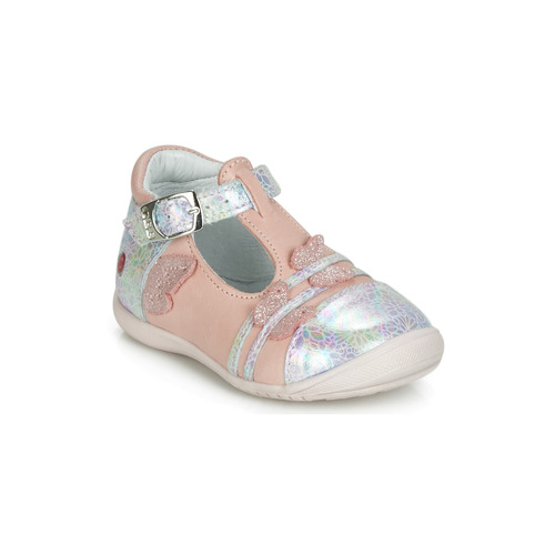 Shoes Girl Flat shoes GBB MERTONE Pink / Silver