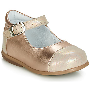 Shoes Girl Flat shoes GBB BELISTO Pink / Gold