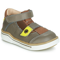 Shoes Boy Sandals GBB PORRO Grey / Yellow