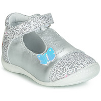 Shoes Girl Flat shoes GBB MERCA Silver