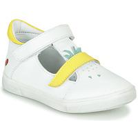 Shoes Girl Flat shoes GBB ARAMA Vte / Valkoinen - keltainen