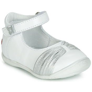 Shoes Girl Flat shoes GBB MALLA White / Silver