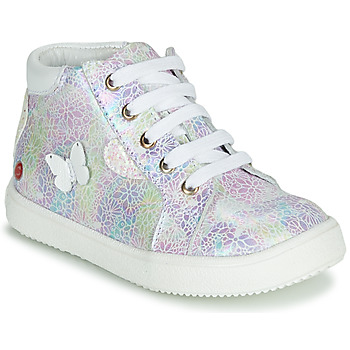 Shoes Girl Hi top trainers GBB MEFITA Silver / Pink