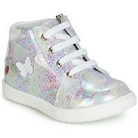 Shoes Girl Hi top trainers GBB MEFITA White / Pink