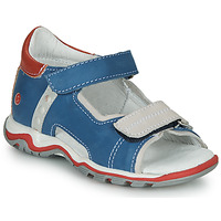 Shoes Children Sandals GBB PARMO Blue / Red