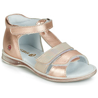 Shoes Girl Sandals GBB NAVIZA Vte / Gold rose / Lola