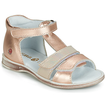 Shoes Girl Sandals GBB NAVIZA Pink / Gold / Gold