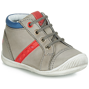 Shoes Boy Hi top trainers GBB TARAVI Grey / Red / Blue