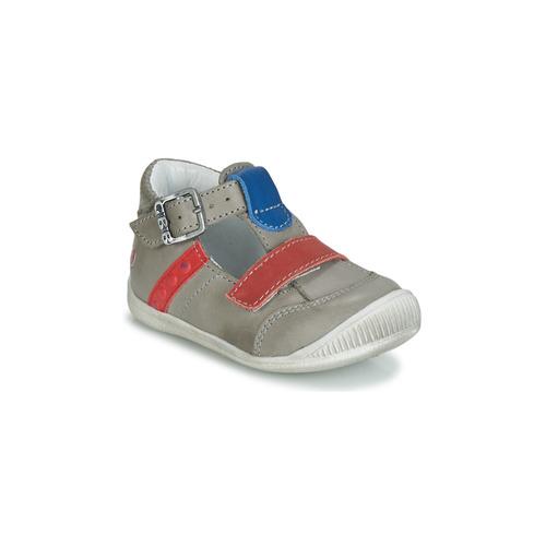 Shoes Boy Sandals GBB BALILO Grey / Blue / Red