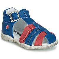 Shoes Boy Sandals GBB ARIGO Blue / Red