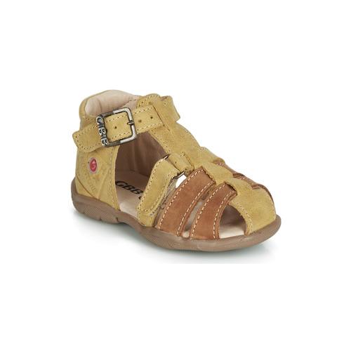 Shoes Boy Sandals GBB PRIGENT Mustard