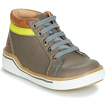 Shoes Boy Hi top trainers GBB QUITO Grey / Yellow