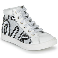 Shoes Girl Hi top trainers GBB MARTA White / Silver